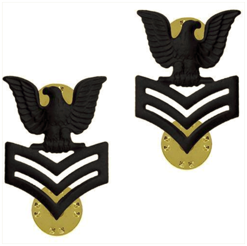 Vanguard NAVY COLLAR DEVICE: E6 SEABEE