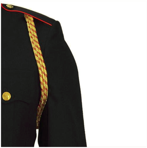 Vanguard MARINE CORPS SERVICE AIGUILLETTE - 3 STRAND GOLD AND RED