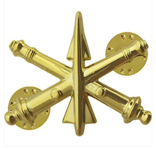 Vanguard ARMY OFFICER BRANCH OF SERVICE COLLAR DEVICE: AIR DEFENSE ARTILLERY