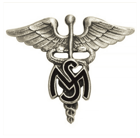Vanguard ARMY OFFICER BRANCH OF SERVICE COLLAR DEVICE: MEDICAL SERVICE