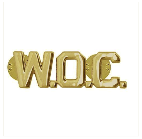 Vanguard ARMY OFFICER BRANCH OF SERVICE COLLAR DEVICE: WARRANT OFFICER CANDIDATE - W.O.C. - 22K GOLD PLATED