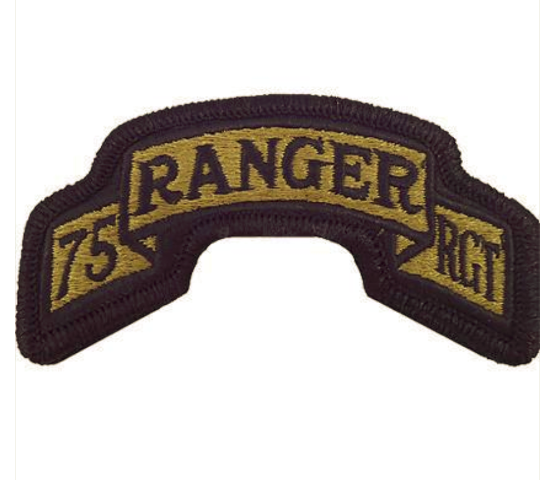 Vanguard ARMY SCROLL PATCH: 75TH RANGER REGIMENT - EMBROIDERED ON OCP