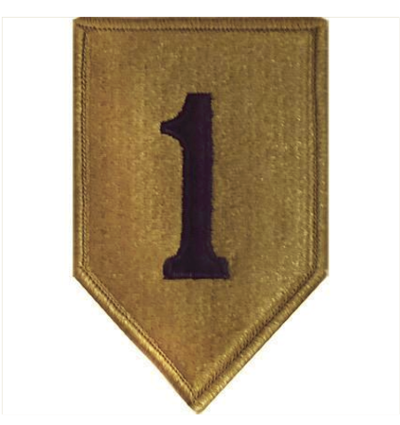 Vanguard ARMY PATCH: FIRST INFANTRY DIVISION - EMBROIDERED ON OCP