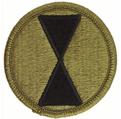 Vanguard ARMY PATCH: SEVENTH INFANTRY DIVISION - EMBROIDERED ON OCP