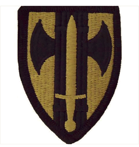 Vanguard ARMY PATCH: 18TH MILITARY POLICE BRIGADE - EMBROIDERED ON OCP