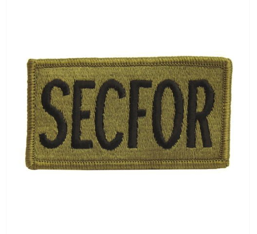 Vanguard ARMY PATCH: SECFOR - EMBROIDERED ON OCP