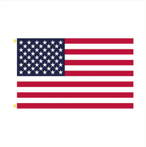 Vanguard AMERICAN FLAG USA NYLON W/EMBROIDERED STARS 3' X 5'