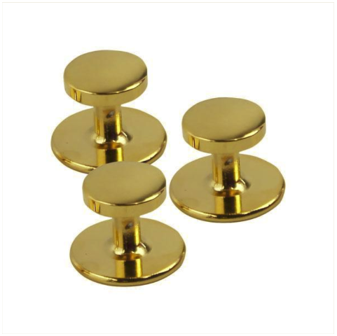 Vanguard NAVY SHIRT STUDS: GOLD - SET OF 3