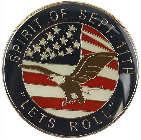 Vanguard LAPEL PIN: SPIRIT OF SEPTEMBER ELEVENTH - LET'S ROLL