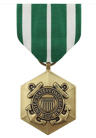 Vanguard FULL SIZE MEDAL COAST GUARD COMMENDATION