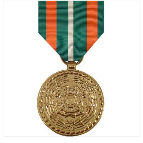 Vanguard Full Size Coast Guard Achievement Medal Award-24k Gold Plated