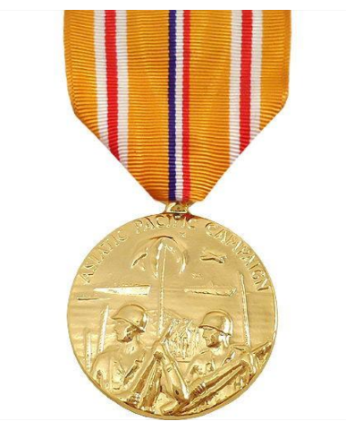 Vanguard FULL SIZE MEDAL ASIATIC PACIFIC CAMPAIGN - 24K GOLD PLATED