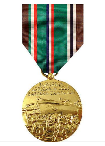 Vanguard FULL SIZE MEDAL EUROPEAN AFRICAN MIDDLE EAST CAMPAIGN - 24K GOLD PLATED