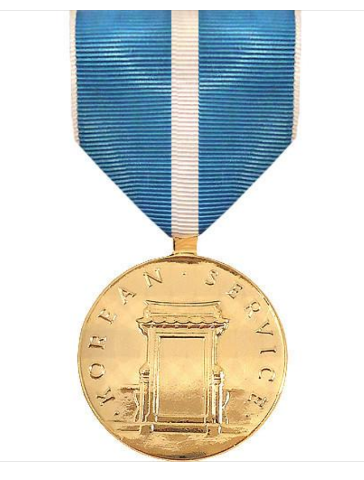 Vanguard FULL SIZE MEDAL: KOREAN SERVICE - 24K GOLD PLATED