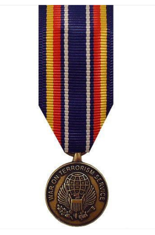 Vanguard MINIATURE MEDAL GLOBAL WAR ON TERRORISM SERVICE