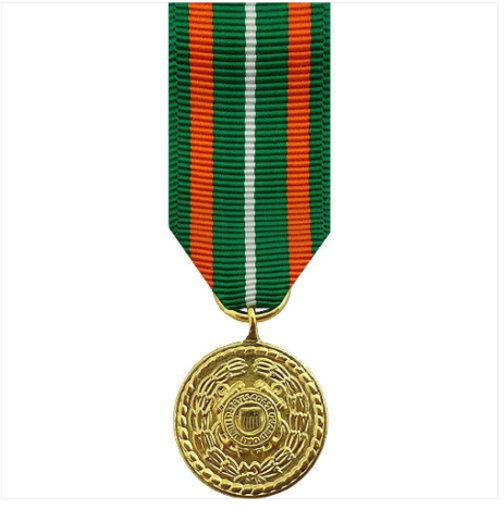 Vanguard  Miniature Coast Guard Achievement Medal Award-24k Gold Plated