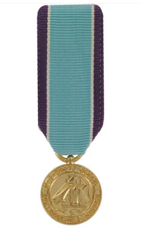 Vanguard MINIATURE MEDAL- 24K GOLD PLATED COAST GUARD DISTINGUISHED SERVICE