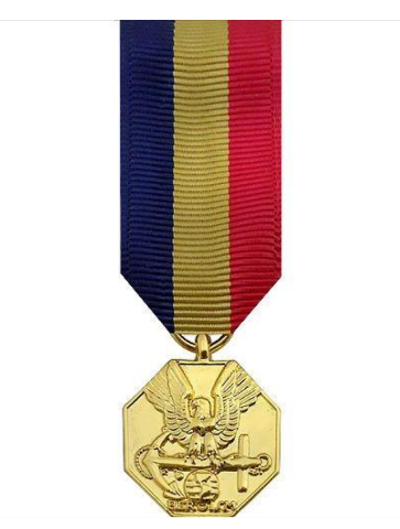 Vanguard MINIATURE MEDAL: NAVY AND MARINE CORPS - 24K GOLD PLATED