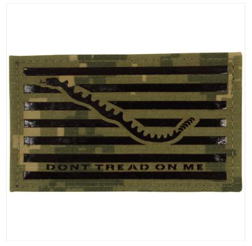 Vanguard FLAG PATCH: DON'T TREAD ON ME - IR - WOODLAND DIGITAL