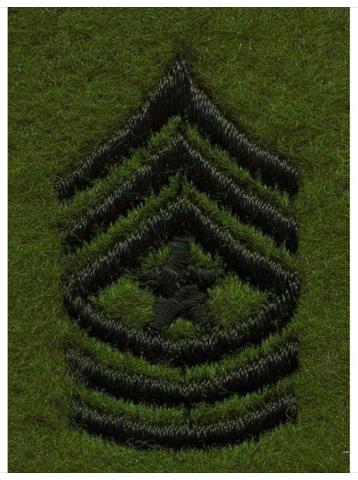 Vanguard ARMY LEADERSHIP RANK TAB: SERGEANT MAJOR