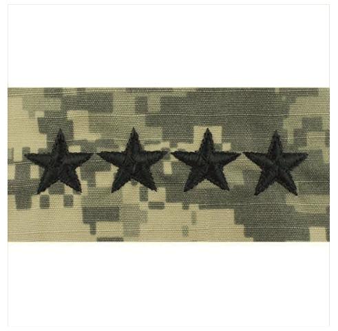 Vanguard ARMY EMBROIDERED ACU CAP RANK: GENERAL
