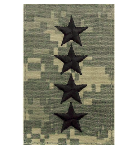 Vanguard ARMY EMBROIDERED RANK: GENERAL (GEN) - EMBROIDERED ON ACU