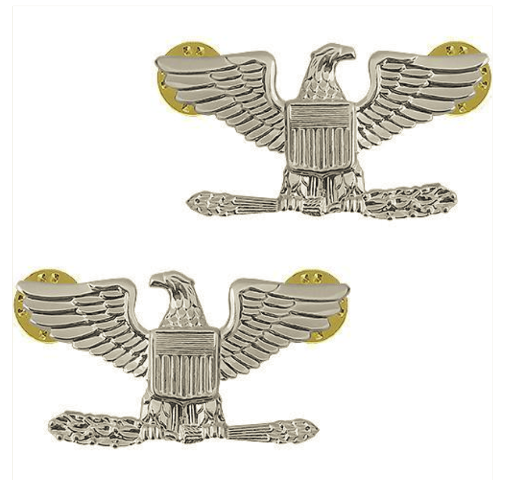 Vanguard RANK INSIGNIA: COLONEL - NICKEL PLATED