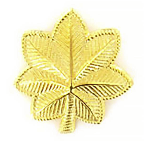 Vanguard ARMY CAP RANK: MAJOR - LARGE, 22K GOLD PLATED