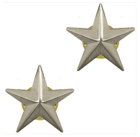 Vanguard OFFICER STARS: NICKEL PLATED 1""