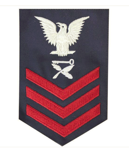 Vanguard COAST GUARD E6 RATING BADGE: CULINARY SPECIALIST - BLUE