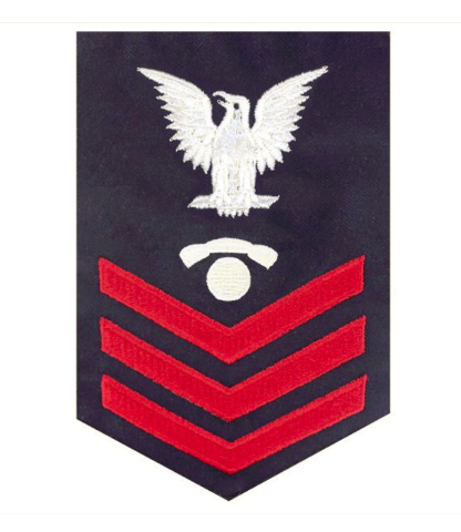 Vanguard COAST GUARD E6 RATING BADGE: TELEPHONE TECHNICIAN - BLUE