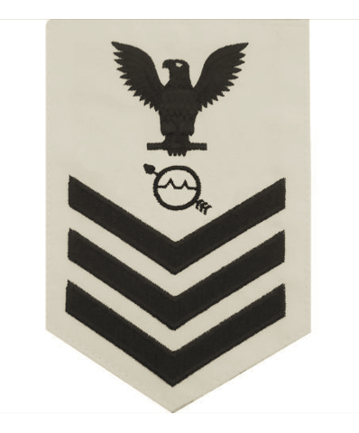 vanguard navy e6 male rating badge operations specialist white