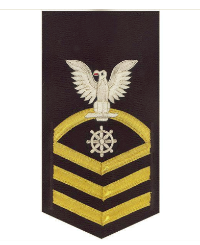 vanguard navy e7 male rating badge quartermaster vanchief on blue