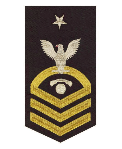 Vanguard NAVY E8 MALE RATING BADGE: INTERIOR COMMUNICATIONS ELECTRICIAN - SEAWORTHY GOLD ON BLUE