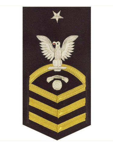 Vanguard NAVY E8 MALE RATING BADGE: INTERIOR COMMUNICATIONS ELECTRICIAN - VANCHIEF ON BLUE