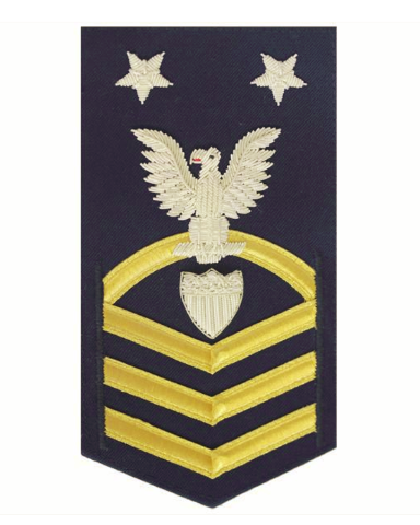 Vanguard COAST GUARD E9 RATING BADGE: COMMAND ENLISTED ADVISOR - BLUE
