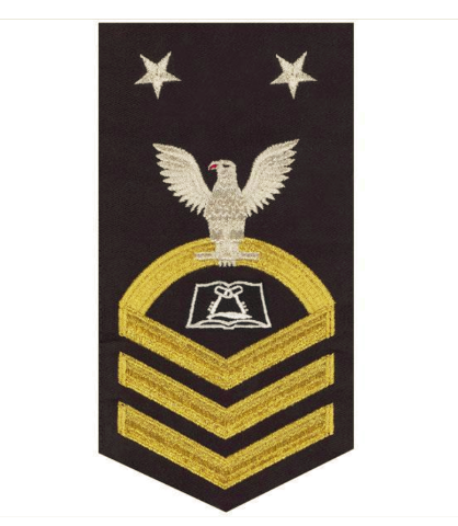 Vanguard NAVY E9 MALE RATING BADGE: CULINARY SPECIALIST - SEAWORTHY GOLD ON BLUE