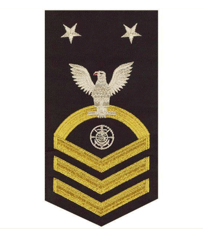 Vanguard NAVY E9 MALE RATING BADGE: RELIGIOUS PROGRAMS SPECIALIST - SEAWORTHY GOLD ON BLUE