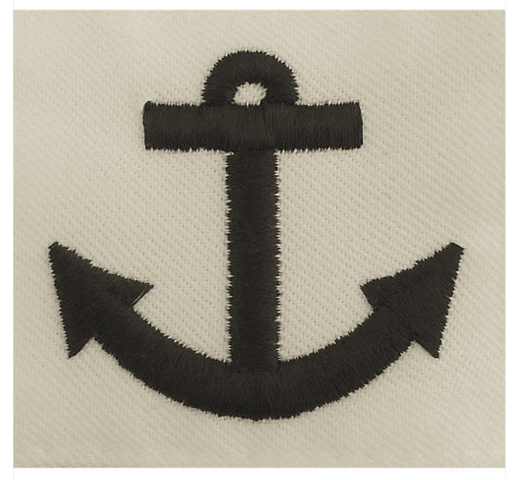 Vanguard NAVY RATING BADGE: SEAMAN APPRENTICE - WHITE CNT FOR DRESS UNIFORMS