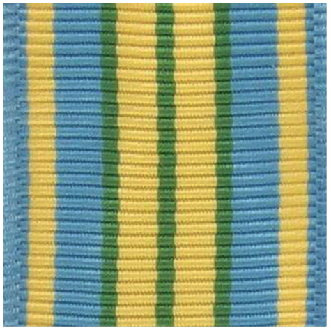 (Miniature) Vanguard Outstanding Volunteer Service Ribbon Yardage (per yard)