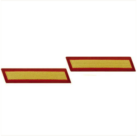 Vanguard MARINE CORPS SERVICE STRIPE: MALE - GOLD EMBROIDERED ON RED, SET OF 1