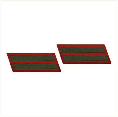 Vanguard MARINE CORPS SERVICE STRIPE: FEMALE - GREEN ON RED, SET OF 2