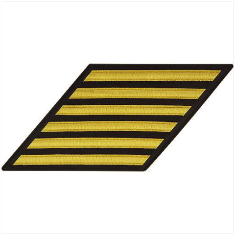 Vanguard NAVY ENLISTED HASH MARKS: GOLD LACE ON SERGE - SET OF 6