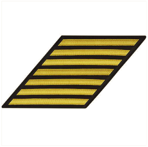 Vanguard NAVY ENLISTED HASH MARKS: GOLD LACE ON SERGE - SET OF 7