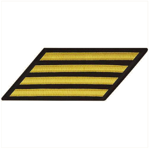 Vanguard NAVY CPO HASH MARKS: GOLD LACE ON BLUE - SET OF 4