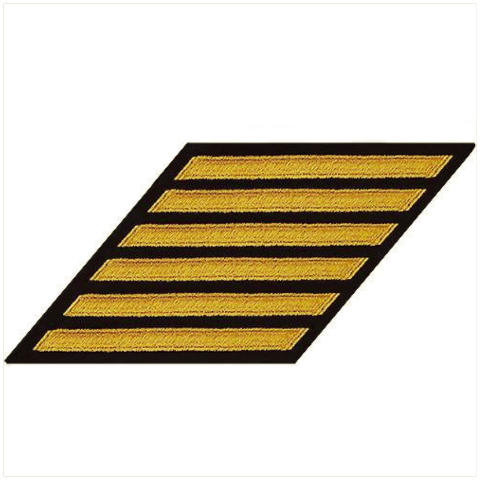 Vanguard NAVY CPO HASH MARKS: GOLD LACE ON BLUE - SET OF 6