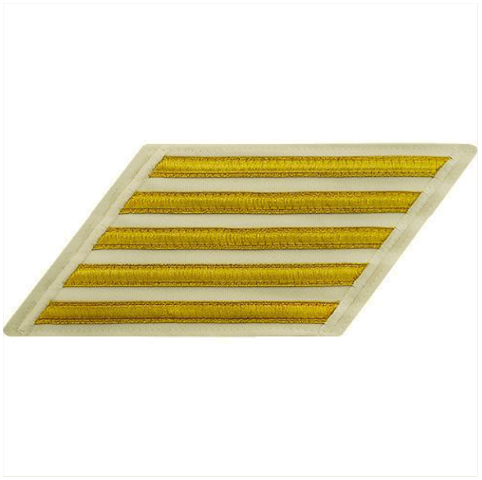 Vanguard NAVY CPO HASH MARKS: GOLD LACE ON WHITE - SET OF 5
