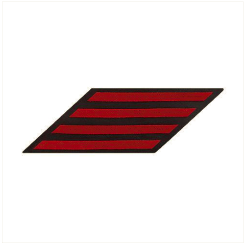 Vanguard NAVY ENLISTED HASH MARKS: RED ON BLUE - FEMALE, SET OF 4