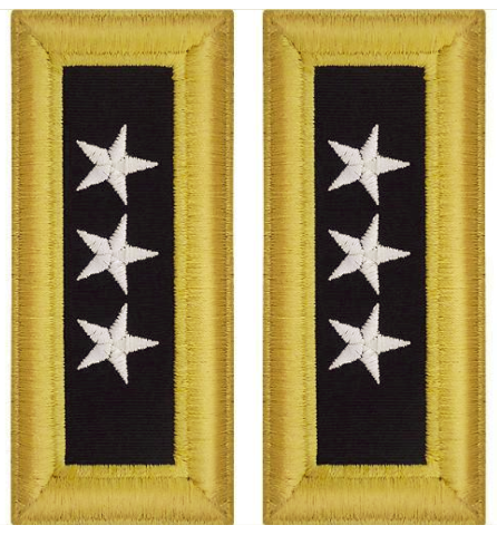 Vanguard ARMY SHOULDER STRAP: LIEUTENANT GENERAL