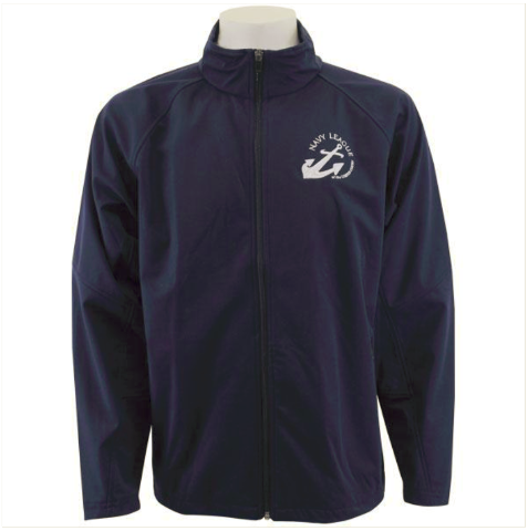 Vanguard NAVY LEAGUE NAVY BLUE SOFT SHELL JACKET WITH WHITE LOGO - SMALL